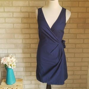 Ann Taylor Loft Navy Wrap Dress Size 0